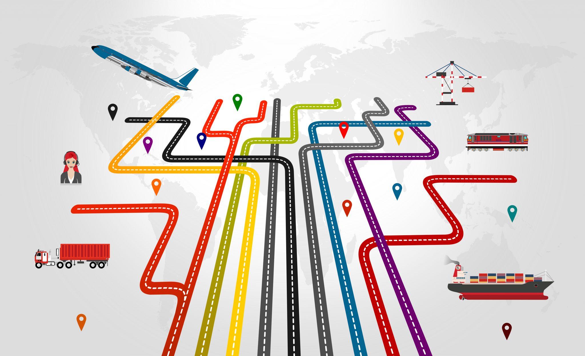 Global logistics concept